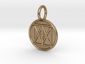 "United ""I AM"" Creator Keychain in Polished Gold Steel"