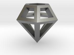 Wire Diamond in Natural Silver