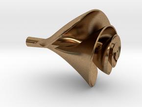 Archimedes Screw Schauberger Style Water Vortex Im in Natural Brass