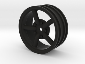 Mach 5 2.2 Wheel with 12mm hex +3mm offset in Black Natural Versatile Plastic