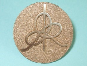 IHES Logo Lapel Pin in Polished Bronze Steel
