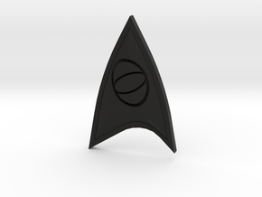 Star Trek Online Science Combadge in Black Strong & Flexible