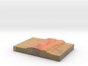 GS-B90 Side B (Scaled Tectonic analogue model) in Glossy Full Color Sandstone