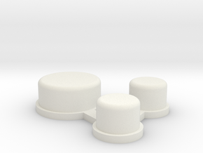 DNA Larger Actuators in White Natural Versatile Plastic
