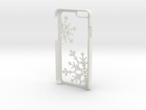 Snowflake iPhone 6/6s Case in White Natural Versatile Plastic