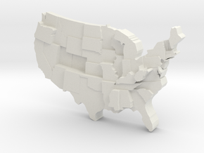 USA by Diabetes in White Strong & Flexible