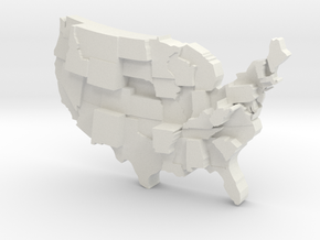 USA by Guns in White Natural Versatile Plastic