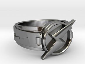 Wally West Flash ring 9 3/4 19.62 mm in Polished Silver