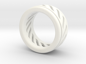 Simple - Fidget (Spin) Ring in White Strong & Flexible Polished: 7 / 54