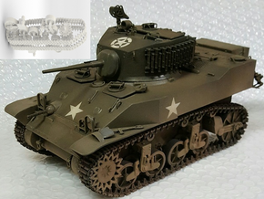 1:18 USA M5A1 Gears and tracks in White Natural Versatile Plastic