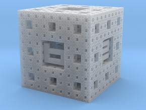 Menger Sponge Die in Smooth Fine Detail Plastic