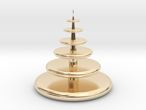 Christmas Tree in 14k Gold Plated Brass