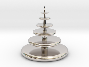 Christmas Tree in Rhodium Plated Brass