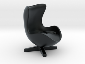 Arne Jacobson Egg Chair Inspired in Black Hi-Def Acrylate