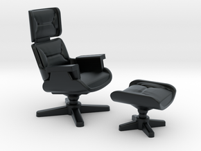 Eames Lounge Chair Inspired in Black Hi-Def Acrylate