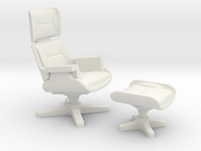 Eames Lounge Chair Inspired in White Natural Versatile Plastic