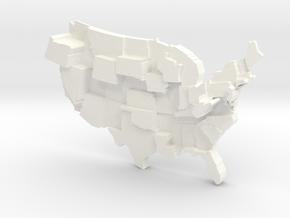 USA by Strip Clubs in White Processed Versatile Plastic