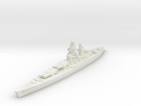 Richelieu battleship 1/2400 in White Natural Versatile Plastic