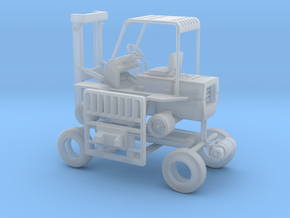 1/50th Hyster type Forklift in Smooth Fine Detail Plastic