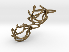 Soft Whirl Pair in Polished Bronze (Interlocking Parts)