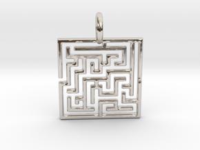 Maze Pendant No.3 in Platinum