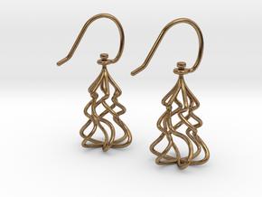 Christmas Tree Twirl in Interlocking Raw Brass