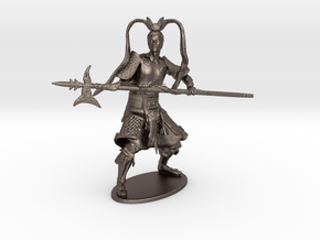 Lü Bu Miniature in Polished Bronzed Silver Steel: 1:60.96