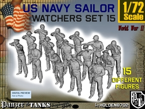 1-72 US Navy Watchers Set15 in Smooth Fine Detail Plastic