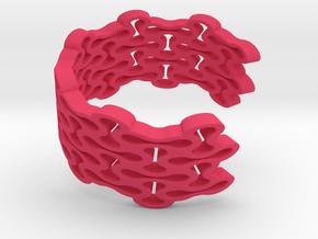 Brace Bracelet in Pink Processed Versatile Plastic