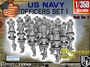 1-350 USN Officers Set 1 in Smoothest Fine Detail Plastic