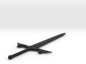 Elvish Sword in Black Natural Versatile Plastic