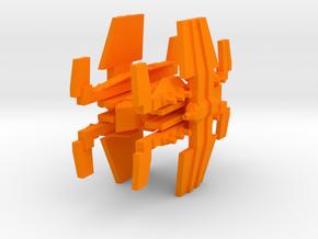 Colour Free Republic Battle Carrier in Orange Processed Versatile Plastic