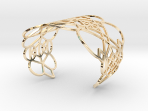 Circles and Lines in 14k Gold Plated Brass