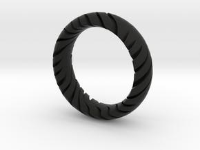 TIGER RING  in Black Natural Versatile Plastic: 12 / 66.5