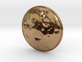 Moon Earring in Polished Brass