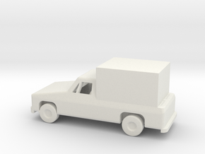 1/144 Scale Pickup With Box in White Natural Versatile Plastic