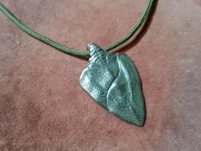 Arrow head pendant in Polished Bronzed Silver Steel