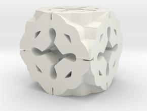 Celtic Cube in White Natural Versatile Plastic