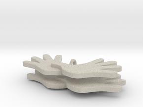 Dagsværk øreringe in Natural Sandstone
