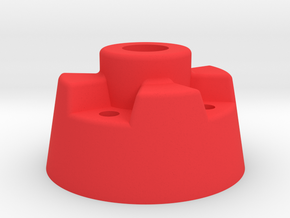 Desktop Base Lamp in Red Processed Versatile Plastic
