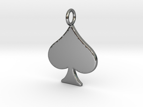 QoS Pendant  in Polished Silver