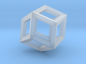 1.84cm-Rhombic Dodecahedron(Leonardo-style model) in Smooth Fine Detail Plastic