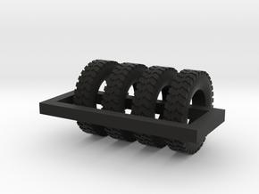 1/87 Ground Gripper Tires X 4 in Black Natural Versatile Plastic