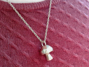 Mushroom low poly pendant in Natural Bronze