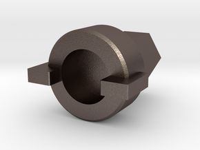 Valve Key D12mm in Polished Bronzed Silver Steel