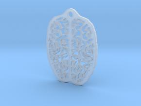 Brain Earring in Smooth Fine Detail Plastic
