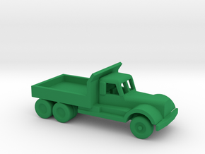 1/200 Scale Diamond T Dump Truck in Green Processed Versatile Plastic