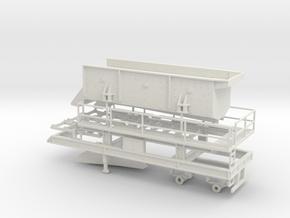 1/50th Portable Screen Plant Trailer w Walkway in White Natural Versatile Plastic