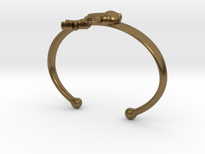 ANDROMEDA ARM CUFF in Natural Bronze (Interlocking Parts): Extra Small