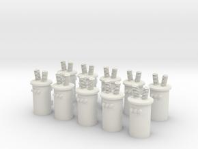 HO Transformers in White Natural Versatile Plastic
